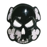 Oxford Knee Sliders Skull Black OX683
